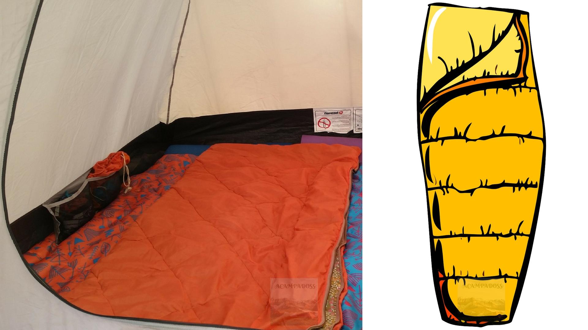 Diferencia entre el saco de dormir momia y el saco de dormir rectangular
