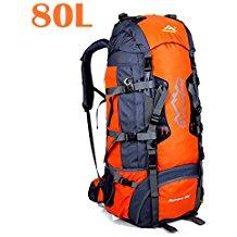 Gelory 80L Mochila Gran Senderismo Alpinismo mochila montaña para viajes al aire libre Escalada Camping mochila trail